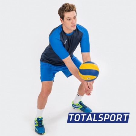 Футболка JOMA ESSENTIAL 101105.307 сине-голубая