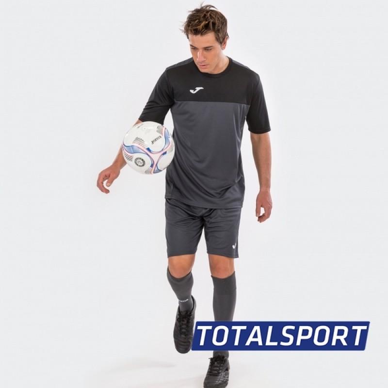 Футбольная форма Joma WINNER 100946.151(футболка+шорты+гетры) черно-серый
