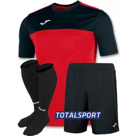 Футбольная форма Joma WINNER 100946.601(футболка+шорты+гетры) красно-черный