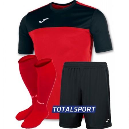 Футбольная форма Joma WINNER 100946.601-2(футболка+шорты+гетры) красно-черный