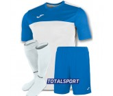 Футбольная форма Joma WINNER 100946.207-2(футболка+шорты+гетры) бело-голубой