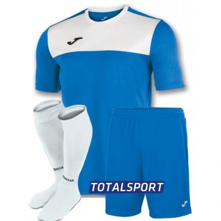 Футбольная форма Joma WINNER 100946.702(футболка+шорты+гетры) бело-голубая