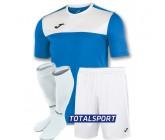 Футбольная форма Joma WINNER 100946.702-2(футболка+шорты+гетры) бело-голубая