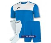 Футбольная форма Joma WINNER 100946.702-3(футболка+шорты+гетры) бело-голубая