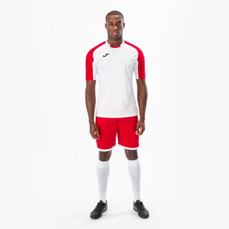 Футбольная форма Joma ESSENTIAL 101105.206-1 бело-красня (футболка, шорты, гетры)2