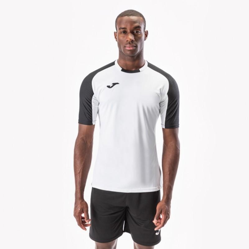 Футбольная форма Joma ESSENTIAL 101105.201-3 бело-черная (футболка, шорты, гетры)