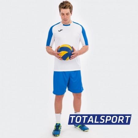 Футбольная форма Joma ESSENTIAL 101105.207 бело-голубая (футболка, шорты, гетры)