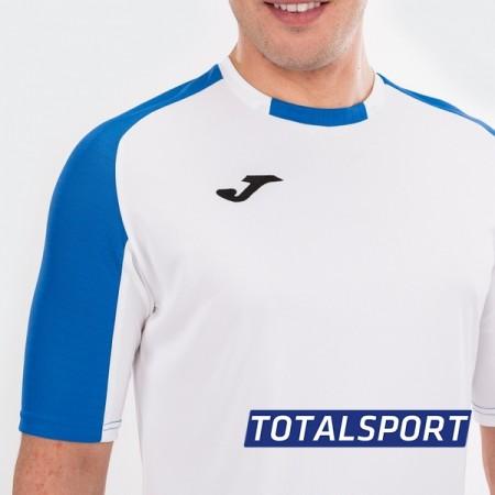 Футбольная форма Joma ESSENTIAL 101105.207-2 (футболка, шорты, гетры) бело-голубая