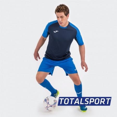 Футбольная форма Joma ESSENTIAL (футболка, шорты, гетры) сине-т.синяя 101105.307