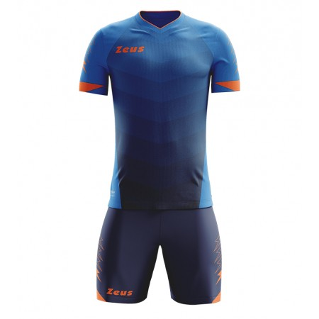 Футбольная форма Zeus KIT Virgo virgo royal-blu arancio_fluo