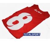 Футбольная форма красная Zeus KIT PROMO ROSSO Z00264 ПРИМЕР формы с номером
