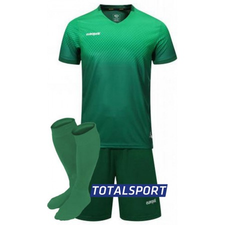Футбольная форма Europaw 024 зеленая (футболка+шорты+гетры)