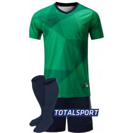 Футбольная форма Europaw 025 зелено-т.синяя (футболка+шорты+гетры)