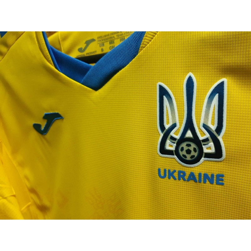 Акция! Игровая футболка сборной Украины Joma FFU101011.20 желтая