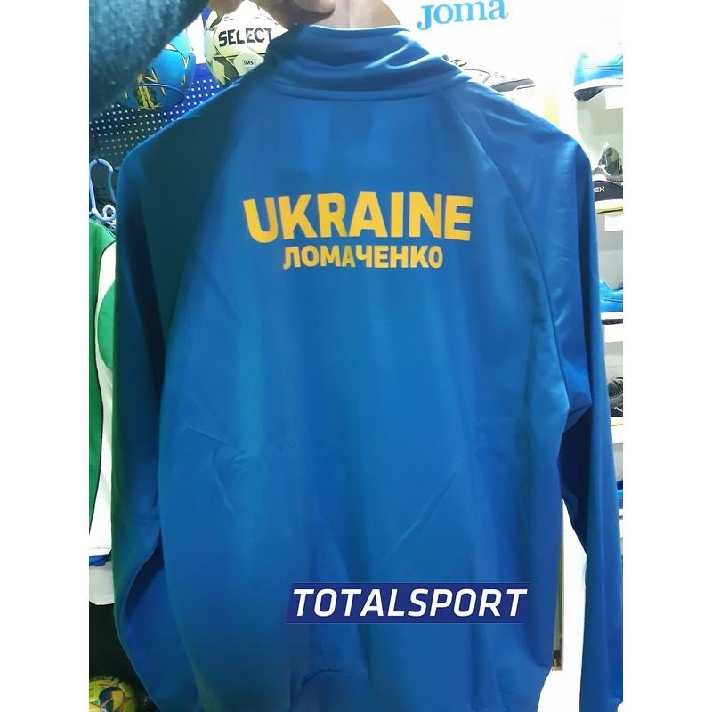 Олимпийка Joma COMBI 100086.700 голубая  пример с надписями и гербом