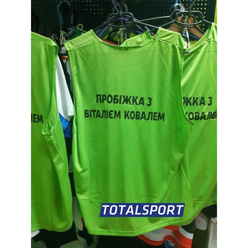 Манишка Titar салатовая ПРИМЕР с номером и надписями