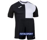 Футбольная форма(футболка+шорты) Joma CITY 101546.102 черно-белая