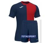 Футбольная форма(футболка+шорты) Joma CITY 101546.336 сине-красная