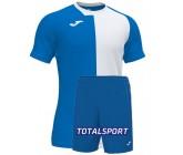 Футбольная форма(футболка+шорты) Joma CITY 101546.702 бело-голубая