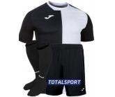 Футбольная форма(футболка+шорты+гетры) Joma CITY 101546.102 черно-белая