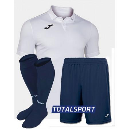 Футбольная форма(футболка+шорты+гетры) Joma GOLD II 101473.200 белая