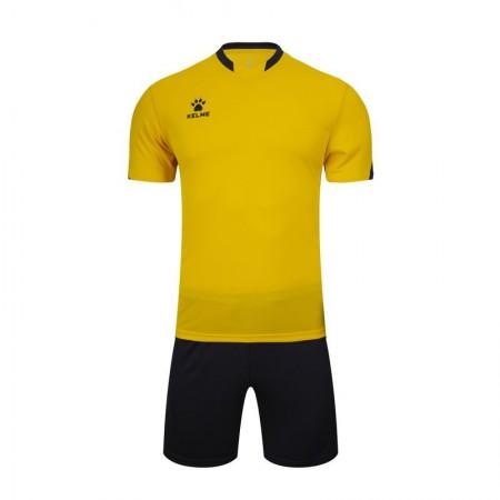 Комплект футбольньої форми жовто-т.сірий  к/р  дитячий 3803099.9737 Kelme