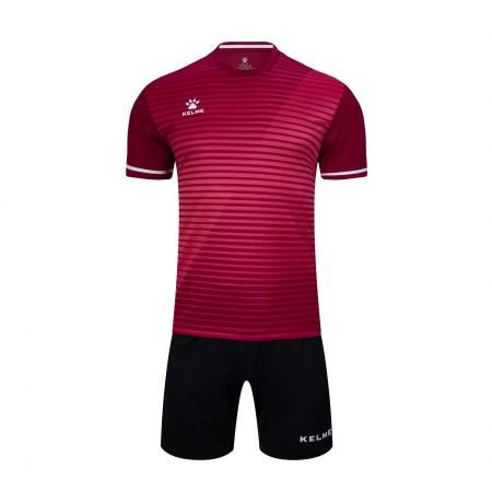 Комплект футбольньої форми бордово-чорний  к/р  дитячий 3803169.9691 Kelme