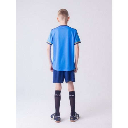 Комплект футбольньої форми  блакитно-т.синій  к/р дитячий SEGOVIA JR 3873001.9996 Kelme