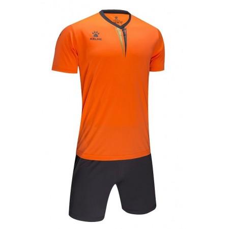 Комплект футбольньої форми VALENCIA JR   оранжево-сірий   к/р  дитячий  3893047.9999 Kelme