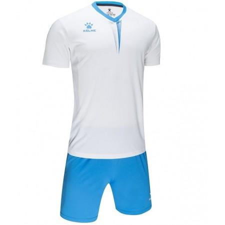 Комплект футбольньої форми VALENCIA JR  біло-блакитний  к/р  дитячий 3893047.9113 Kelme