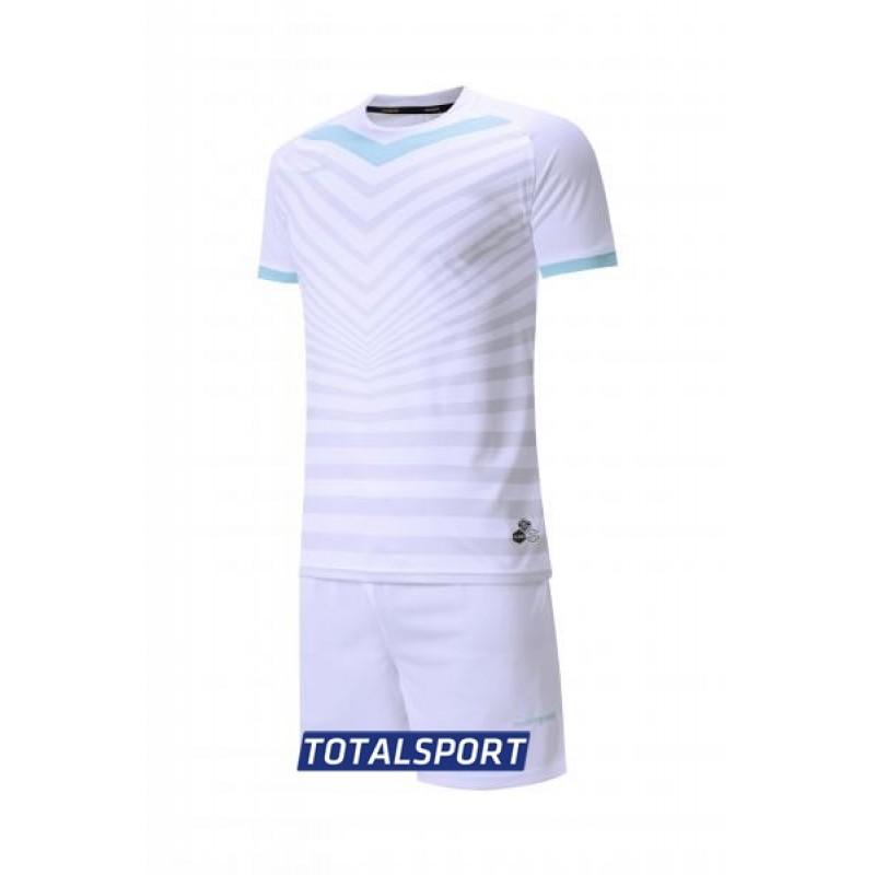 Футбольная форма Europaw 026 бело-голубая(футболка+шорты+гетры)