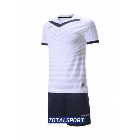Футбольная форма Europaw 026 бело-т.синяя(футболка+шорты+гетры)