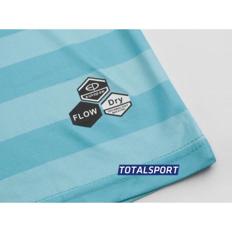 Футбольная форма Europaw 026 бирюзово-красная (футболка+шорты+гетры)