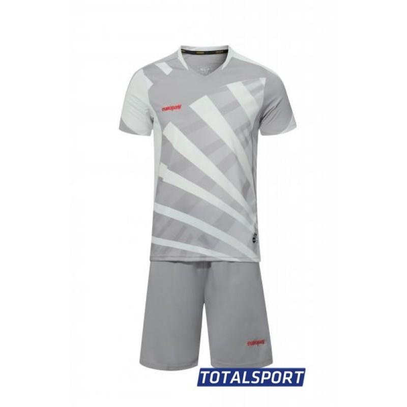 Футбольная форма Europaw 023 серая(футболка+шорты+гетры)