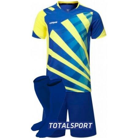 Футбольная форма Europaw 023 сине-желтая(футболка+шорты+гетры)