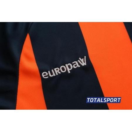 Футбольная форма Europaw 020 т.сине-оранжевая(футболка+шорты+гетры)