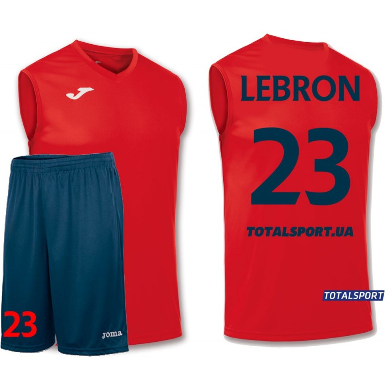 Баскетбольная форма Joma Combi 100436.600 красная