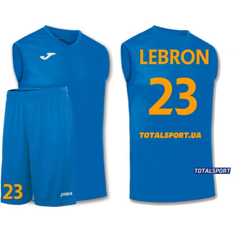 Баскетбольная форма Joma Combi 100436.700 голубая