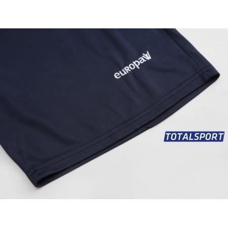 Футбольная форма Europaw 027 оранжево-т.синяя(футболка+шоры+гетры)