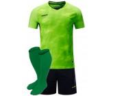 Футбольная форма Europaw 027 салатово-т.синяя(футболка+шоры+гетры)