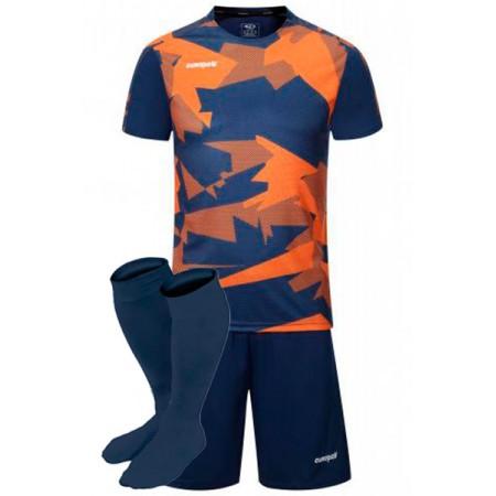 Футбольная форма Europaw 022 серо-красная(футболка+шоры+гетры)