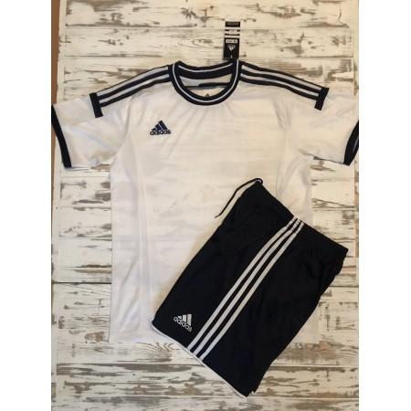Футбольная форма Adidas 2020-2021 бело-черная