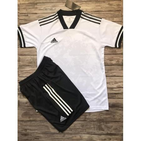 Футбольная форма Adidas 2020-2021 бело-желтая