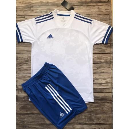 Футбольная форма Adidas 2020-2021 бело-голубая