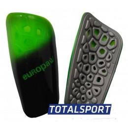 Щитки футбольные Europaw light черно-зеленые 02461