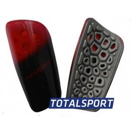 Щитки футбольные Europaw light черно-красные 02460