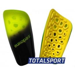 Щитки футбольные Europaw light черно-салатовые 02462