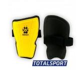 Щитки футбольные детские M желтые 01255