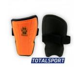 Щитки футбольные детские M оранжевые 01256