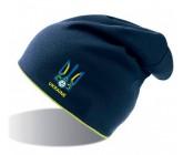 Шапка Atlantis синяя с футбольным лого Украины